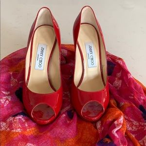 Jimmy Choo Red 5 inch High Heels